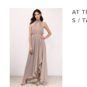 Maxi dress - taupe . Size small. Brand new